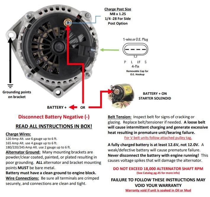 Ls Conversion Swap, 2 Wire Alternator Wiring Diagram