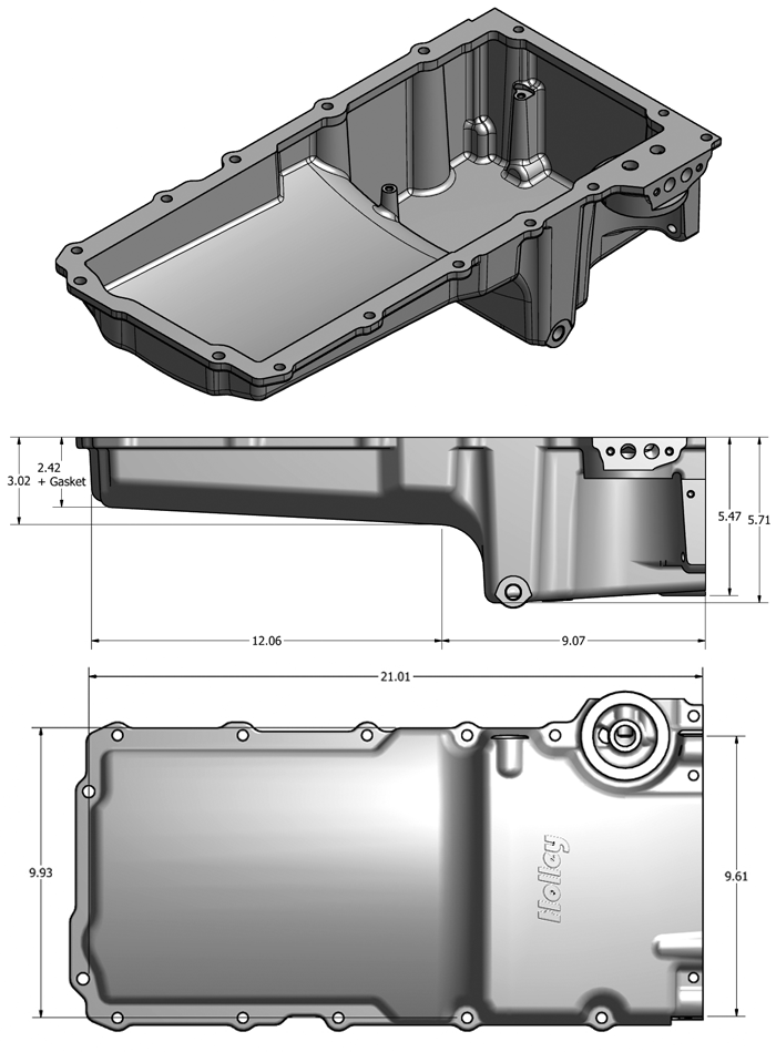Holley 302-1 LS Engine Swap Retrofit Oil Pan