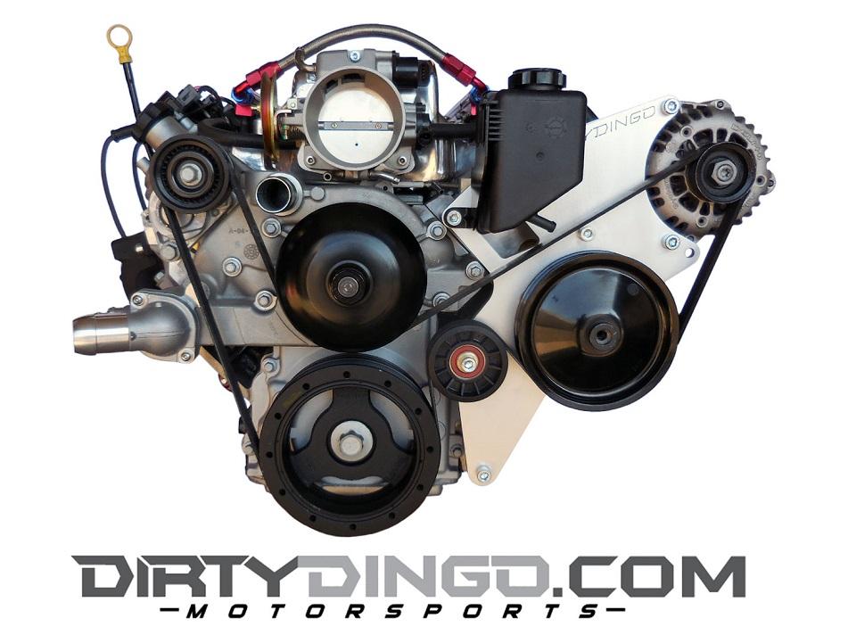 Dirty Dingo Idler Pulley Relocation Bracket Corvette//G8//CTS-V Engine Driver Side